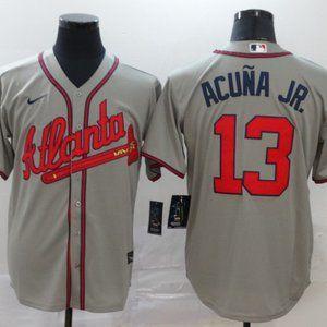 Atlanta Braves Ronald Acuna Jr. Jersey Gray